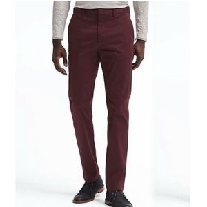 Banana Republic Rapid Movement Burgundy Chinos